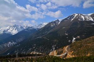 paesaggio del terreno di montagna foto