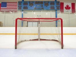 rete da hockey con tabellone segnapunti