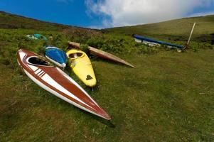 canoe abbandonate foto