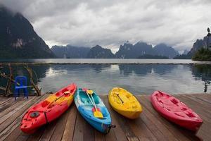 lago per kayak foto