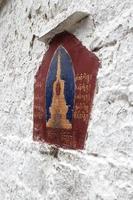affresco tibetano a parete foto