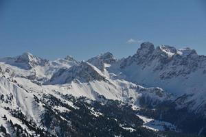 natura invernale di montagna foto
