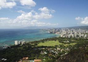 Waikiki Shoreline dalla testa di diamante foto