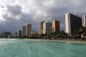 Waikiki Beach, Honolulu, Oahu, Hawaii foto
