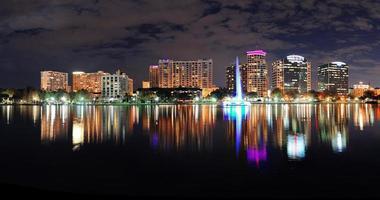 panorama notturno di Orlando foto