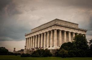 monumento di Lincoln a Washington DC foto