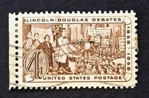 francobollo di discussione Lincoln-Douglas foto