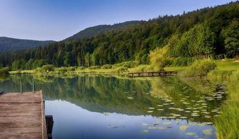 lago bluem foto