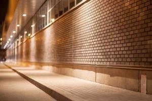 l'astrazione architettonica notturna con bokeh foto
