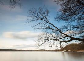lago a lunga esposizione foto