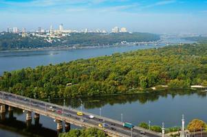 skyline di kyiv, ucraina