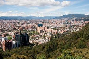 Vista di Bogotà, Colombia foto