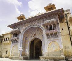 cancello di tripolia, palazzo della città di jaipur foto