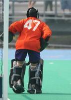 portiere di hockey su prato foto