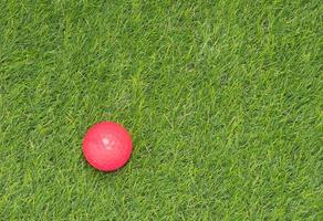pallina da golf rosa foto