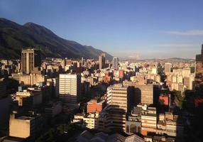 skyline di Caracas. foto