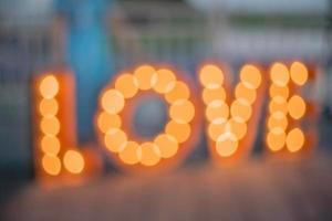 luce d'amore sfocata