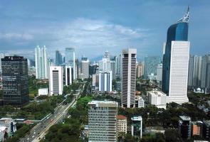 skyline di Jakarta foto