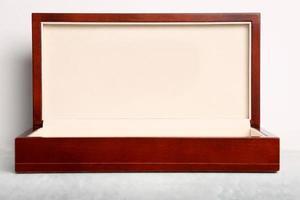 confezione regalo in legno di lusso foto