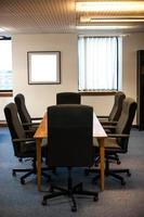 sala conferenze vuota foto