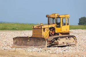 vecchio bulldozer foto