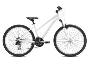 nuova bicicletta isolata su uno sfondo bianco foto