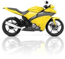 moto moto bici cavaliere concetto contemporaneo foto