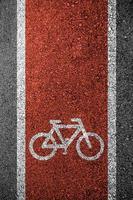 struttura dell'asfalto della pista ciclabile foto