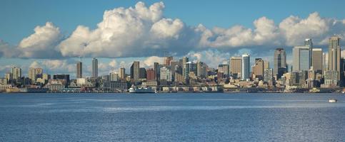 skyline di Seattle foto
