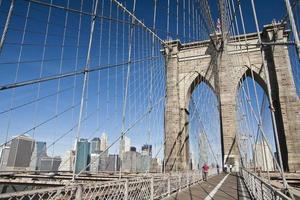 stati uniti d'america - new york - new york, ponte di brooklyn foto