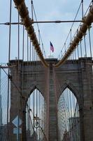 dettagli del ponte di Brooklyn foto