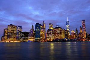 skyline del centro di manhattan foto