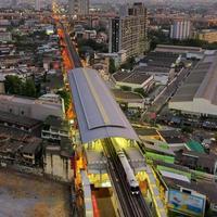 traffico di bangkok. foto