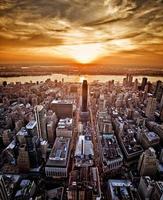 tramonto di new york foto