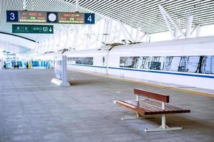 piattaforma ferroviaria della stazione di humen foto