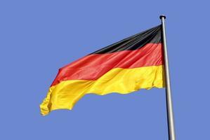 bandiera nazionale tedesca a Berlino foto