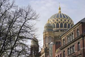 nuova sinagoga a Berlino, Germania foto