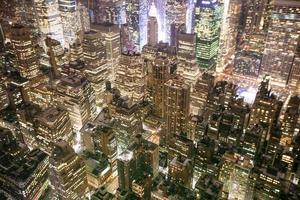 Vista di notte di New York da Empire State Building foto