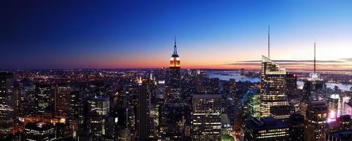 skyline di new york city foto