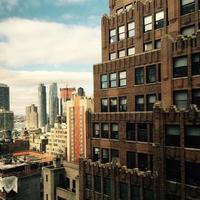 troppo su e sopra New York City foto