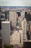 vista aerea del centro di Manhattan, New York City foto