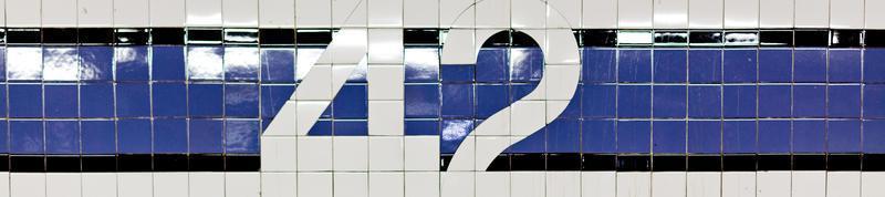 nyc 42nd dettaglio della metropolitana foto
