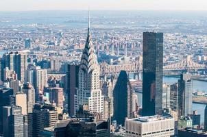 vista panoramica aerea del Midtown di New York City con skyscr foto