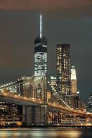 Manhattan di notte foto