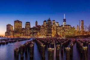 skyline di manhattan nyc foto