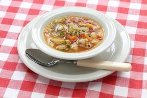 zuppa di vongole manhattan foto