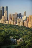 Central Park vista aerea, Manhattan, New York foto