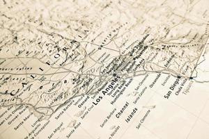 mappa di los angeles foto