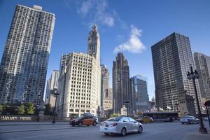 stati uniti d'america - illinois - chicago, chicago river skyline