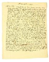 lettera personale manoscritta in anticipo datata 1819. foto